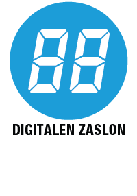 Digitalen zaslon